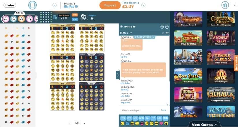 75 ball bingo lobby  - Bid Bingo UK