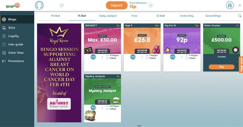75 ball bingo games - Bid Bingo UK