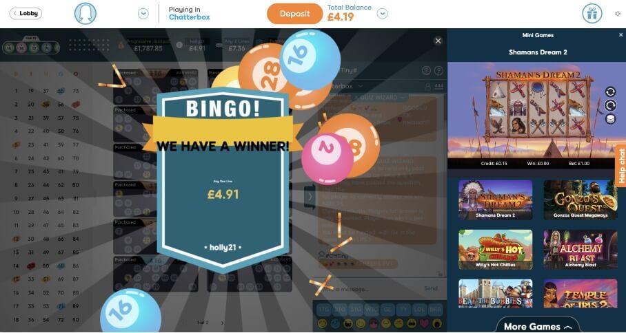 90 Ball Bingo Winners Screen - BidBingo UK
